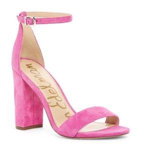 Sam Edelman pink suede sandals size 7